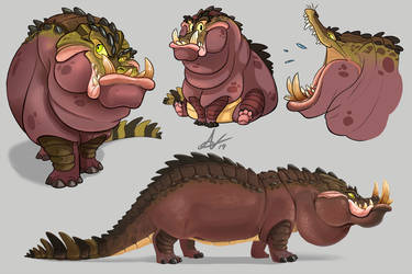 Crocopotamus Colour Concept by Atropicus