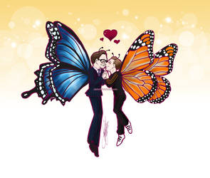 Butterfly Hartwin Tumblr Blogsticker by RedPassion