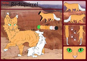 Redsquirrel Ref by Feral-Spirit