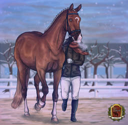1 - stressful Halter + SPEED PAINTING by GutCaballo