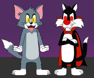 Werewolf Tom and Vampire Sylvester by Kitsune257