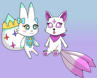 Tama and Kiko by Kitsune257