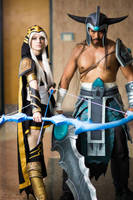 League of Legends Cosplay: Ashe and Tryndamere by RaeKayBro