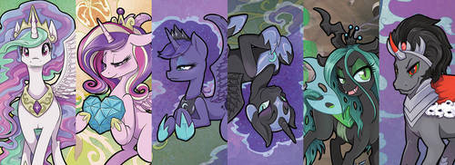 Royalty of the Equestria and Beyond! by JezebelTart