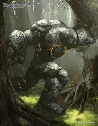 Dragonborne TCG Stoneskin Charger by AbelVera