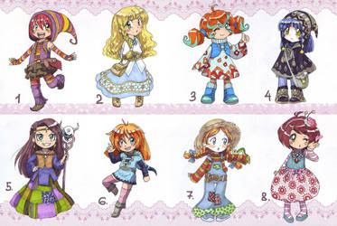 (NYP) Adoptables 7 by TomoeOtohime