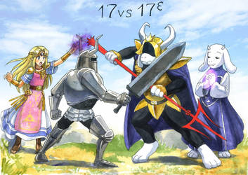 [COMM] Zelda vs. Toriel by TomoeOtohime