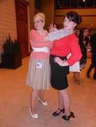 Anime Boston 2014: Pam and Cheryl by JackEmerald