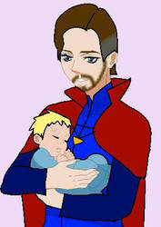 [Request] Doctor Strange and his baby by maryjoyg38