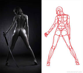 Reilly Abstractions 005 - Figure Female Back by b1xxx