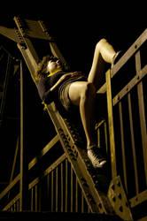 Dark bridge, light girl by smoothOne