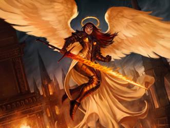 Flameblade Angel by Lucastorquato27