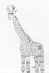 Zecora as a giraffe by schneelocke