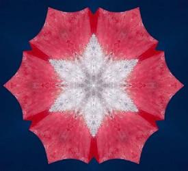 Rodochrosite with Clear Quartz Kaleidoscope by csillagrubin