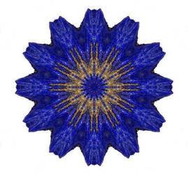 Lapis Lazuli Crystal Kaleidoscope by csillagrubin