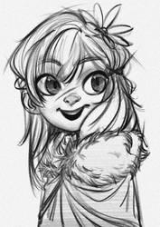 Character Design Sketch by GoPixel