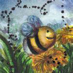 Inchie #7 The flight of the bumblebee by Colutea
