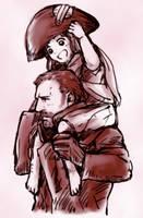 Cosette and Javert by tyakki