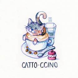 Catto-ccino by Hardrockangel