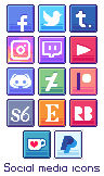 Social Media Icons - [28x28] by Hardrockangel