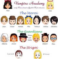Cast of Vampire Academy by MinervaEvenstar