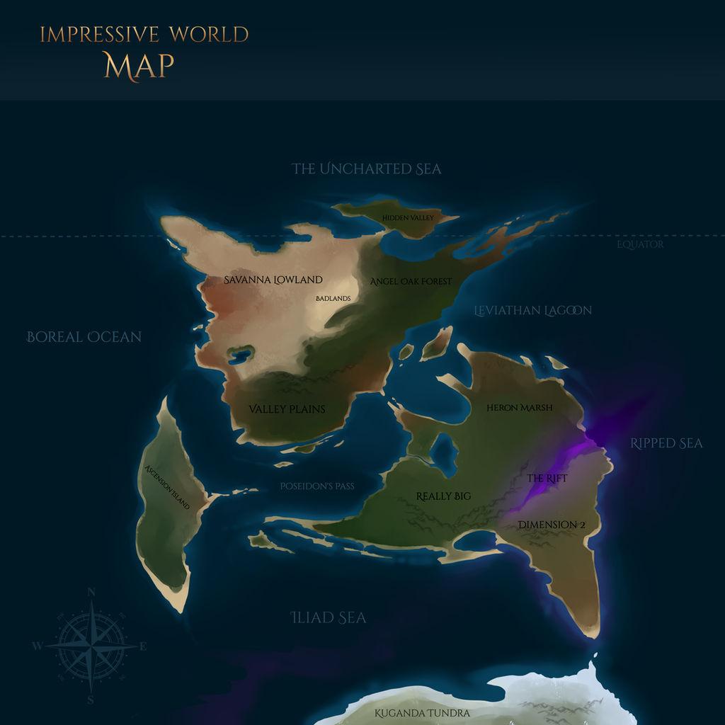 Impressive World Map by Vegaven