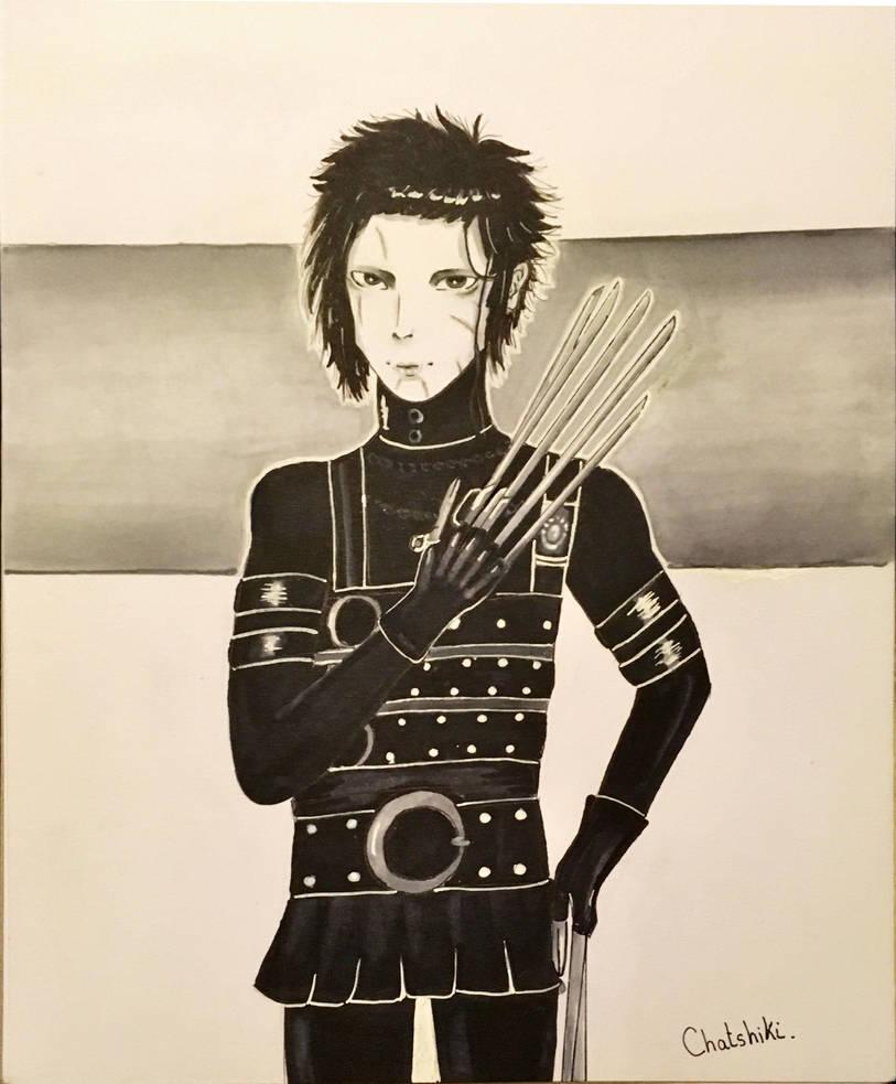 Edward hand scissors fanart by Chatshiki