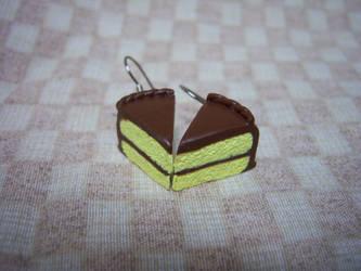cake earrings by soupisgreen