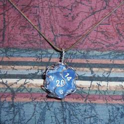 Transparent Blue D20 by soupisgreen