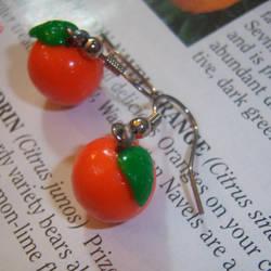 Orange Earrings by soupisgreen