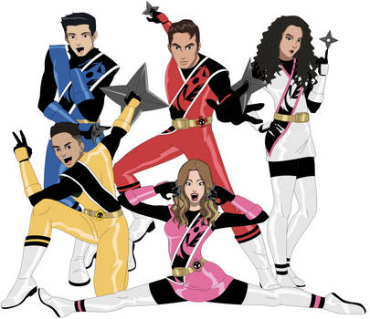 Power Rangers Ninja Steel Cast by AMTModollas