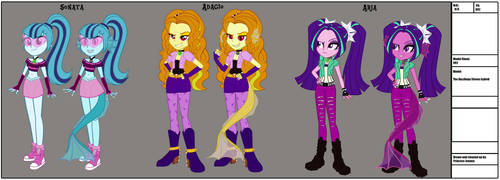 The Dazzlings By InvisibleInk by Evil-Count-Proteus
