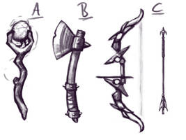Fantasy Weapon Concepts - Speedpaint #41 by NaiBuff