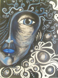 Blue Woman by Poess