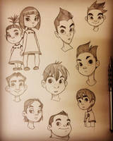 More Character Sketches by ChrissieZullo