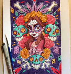 Day of the Dead Painting by ChrissieZullo