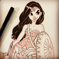 Wonder Woman Sketch by ChrissieZullo