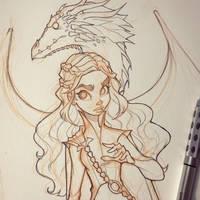 Daenerys Targaryan Sketch by ChrissieZullo