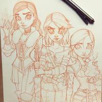 Witcher Sketch by ChrissieZullo