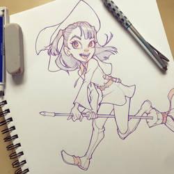 Akko Little Witch Academia by ChrissieZullo