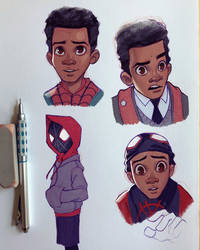 SpiderMan : Into the Spiderverse by ChrissieZullo