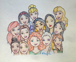 Disney Princesses by MaiaSketches