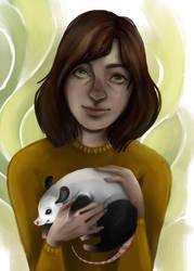 opossum with opossum by FairyOpossum