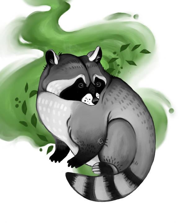 raccoon repaint by FairyOpossum