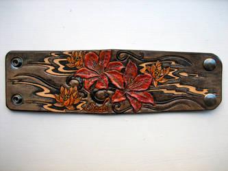 Custom Lilies wrist strap by AFlem