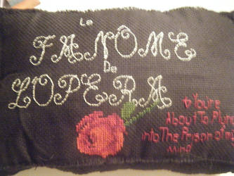 one side of my phantom of the opera pillow! by Allison-of-the-opera