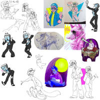 A big ol doodle dump by inkspecco