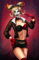 Harley Quinn Shell Bomb by victter-le-fou