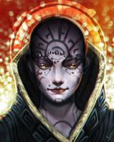 Female Futuristic Deity by victter-le-fou