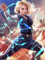 Android 18 Fan art by victter-le-fou